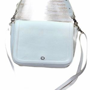 Emma Fox White Vegan Leather Shoulder Crossbody